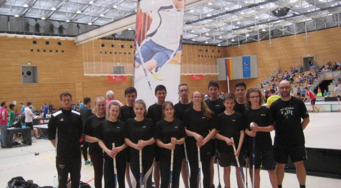 GO-Floorballer mit Platz 11 beim Bundesfinale in Berlin